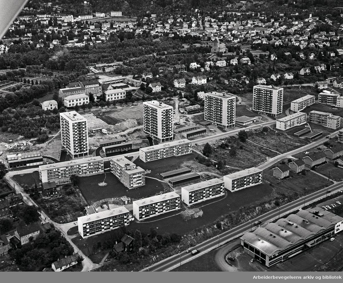Flyfoto over Lillo Terrasse,.september 1961
