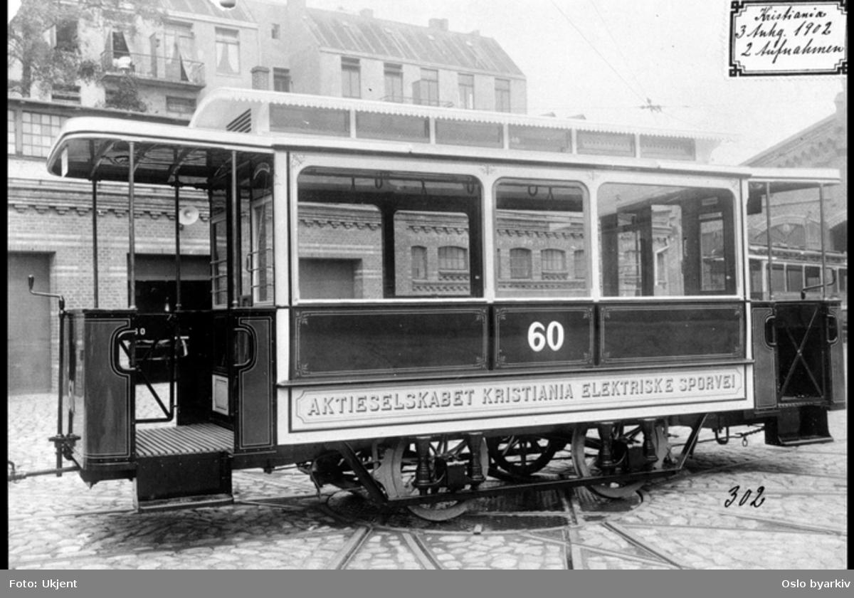 Elektrisk sporvogn med åpne plattformer