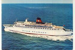 Danskebåten, M/S Dana Regina, rederiet DFDS SEAWAYS, i åpent