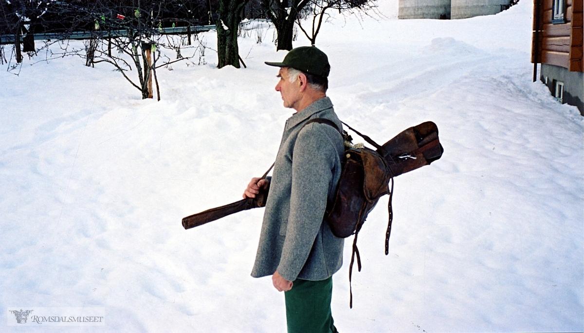 Kristian Austigard med skreppe fra Austigard.