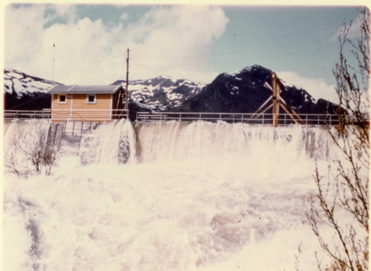 Oslo Lysverker. Kraftutbygginga. Dam Brekkefoss, Hemsedal.
