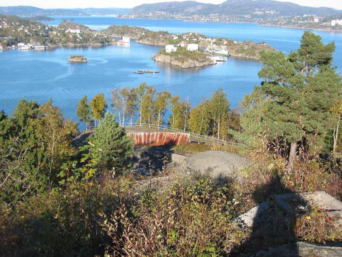 Norges sjøkrig 1940 - 45. av W.Faye. Oberst.Utgiver Forfatter E.A.Steen. De 7-8 første kapitler.  Kjøreanvisning: Kvarven festning ligger ved innseileingen til Bergen fra SYD. Den ligger på Bergenshalvøen og har utsikt mot Askøy og mot Bergen. Båttrafikken går fra syd forbi festningen. I dag kan en kjøre til Gravdal, forbi nutek, og det er gangvei til toppen av Kvarven.