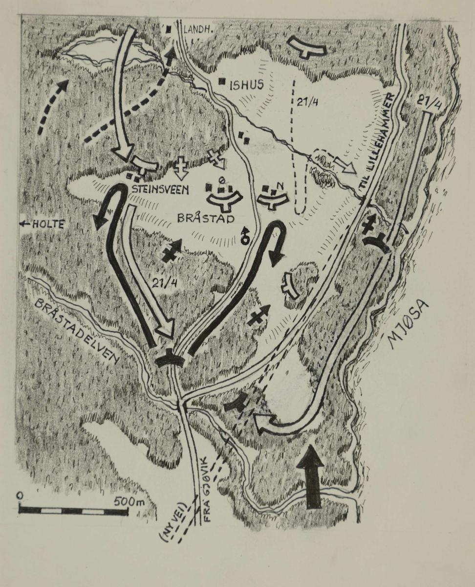 Kart Over Området Bråstad