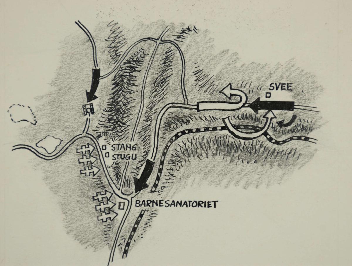 kart over randsfjorden Kart over kampene ved Tonsåsen   Tonsåsen Barnesanatorium  kart over randsfjorden