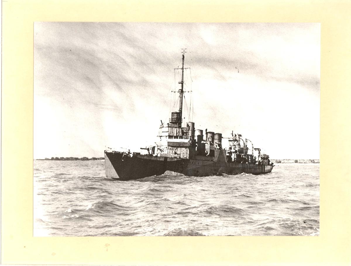 Motiv: Jageren ST. ALBANS - 3/4 babord side.