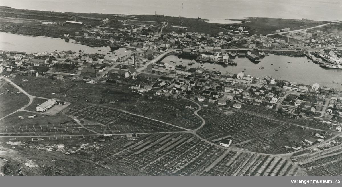 Flyfoto av Vardø, 3. september 1962
