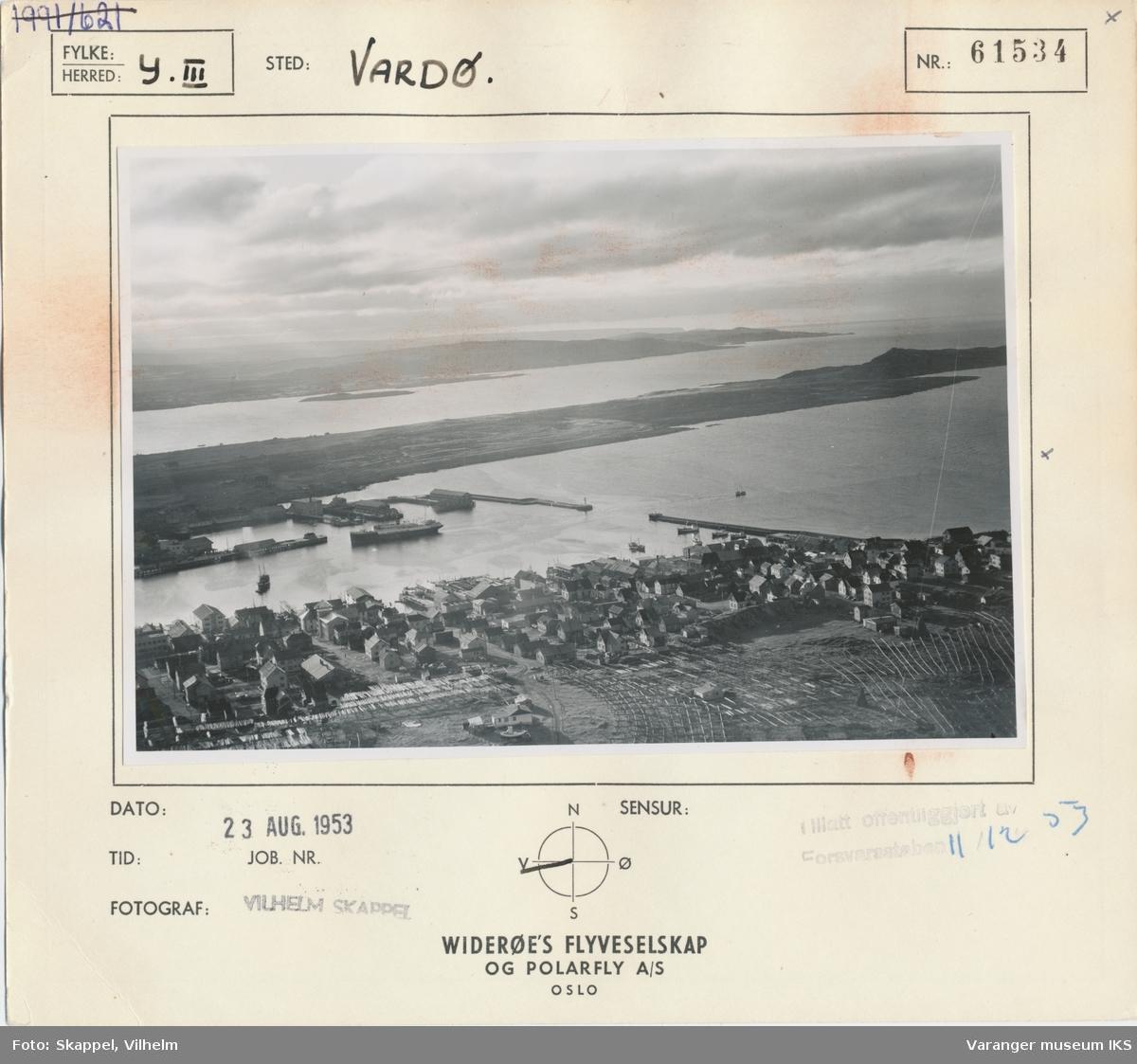 Flyfoto, Vestervågen og havna, sett mot vest