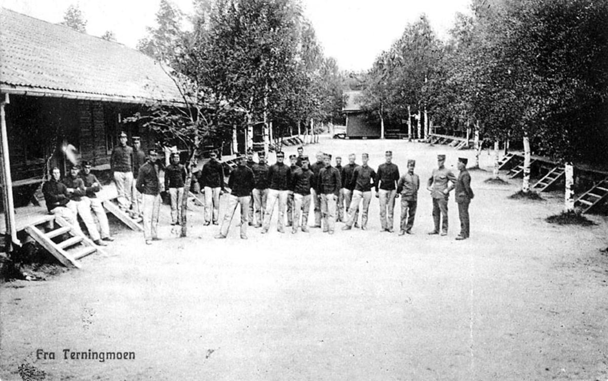Soldater på Terningmoen, ca. 1906