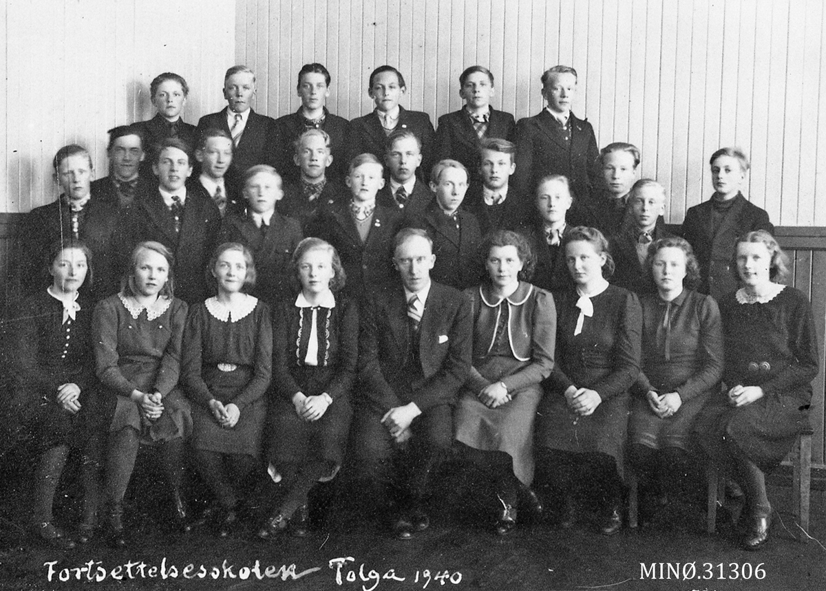 Fortsettelseskolen Tolga skole 1940
