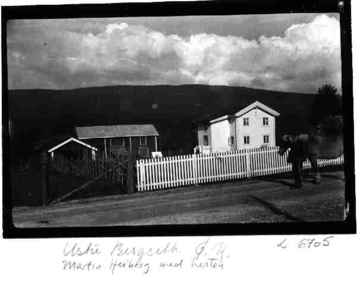 Ustu Bergseth, Øvre Rendal, Martin Heiberg med hest
