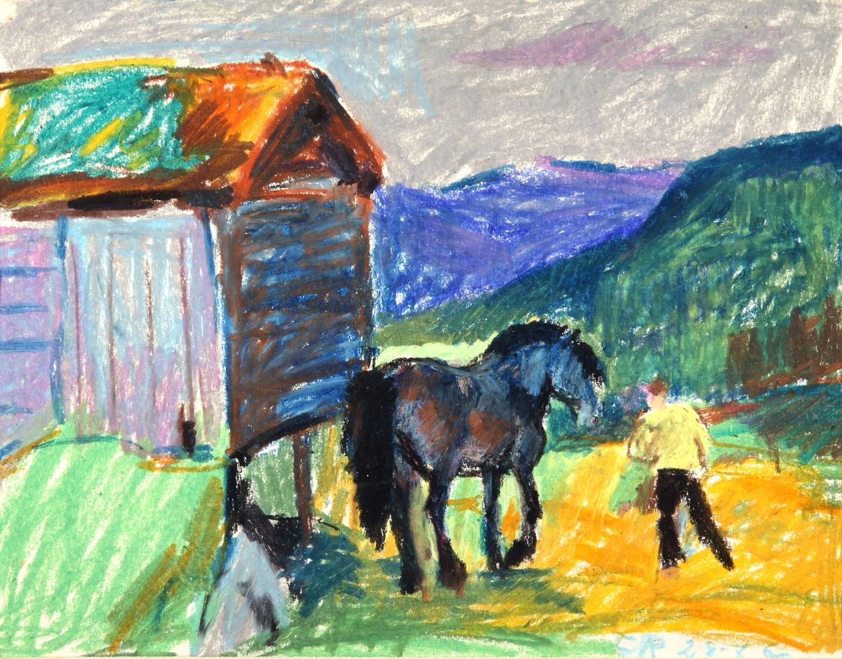 Hest og bonde