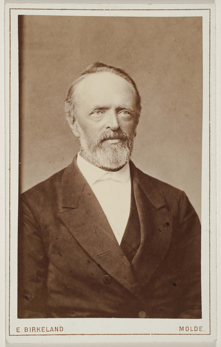 Visittkort som trolig viser Alexander Brinchmann.