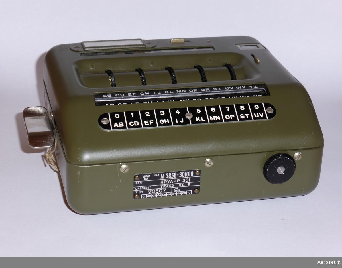 Krypteringsapparat för hålkort