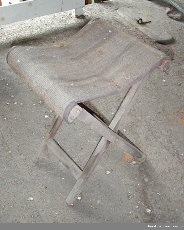 Klaffestol med stofftrekk