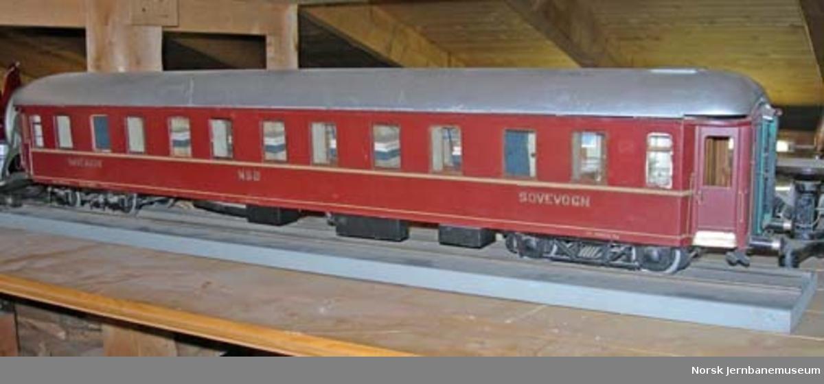 Modell av sovevogn litra Co1d nr. 21024 : med innredning