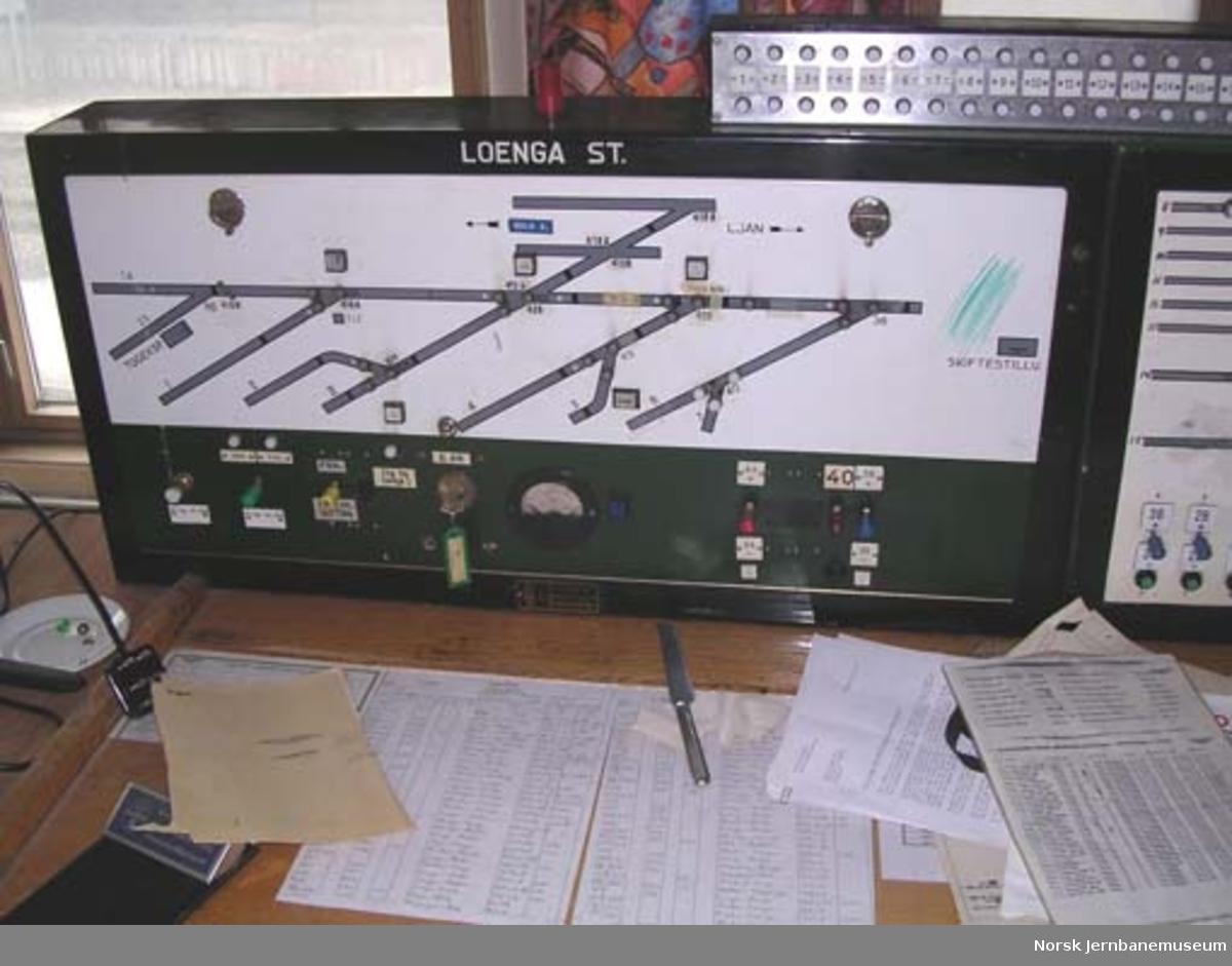 Stillverkspaneler fra Loenga stasjon, stillverk II