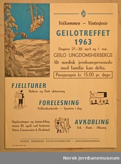 Informasjonsplakat : Geilotreffet 1963