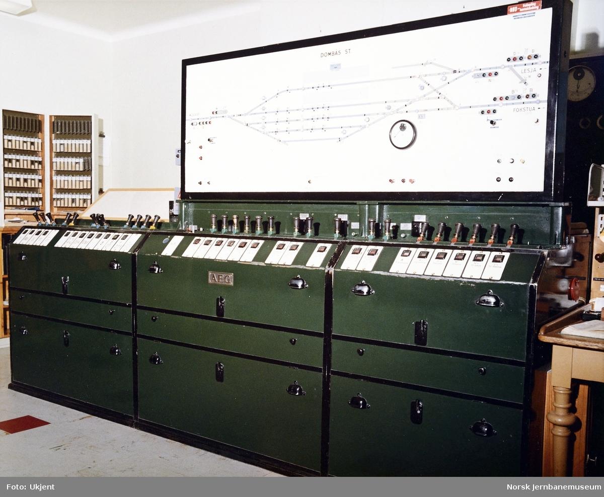 AEG-stillverket på Dombås stasjon
