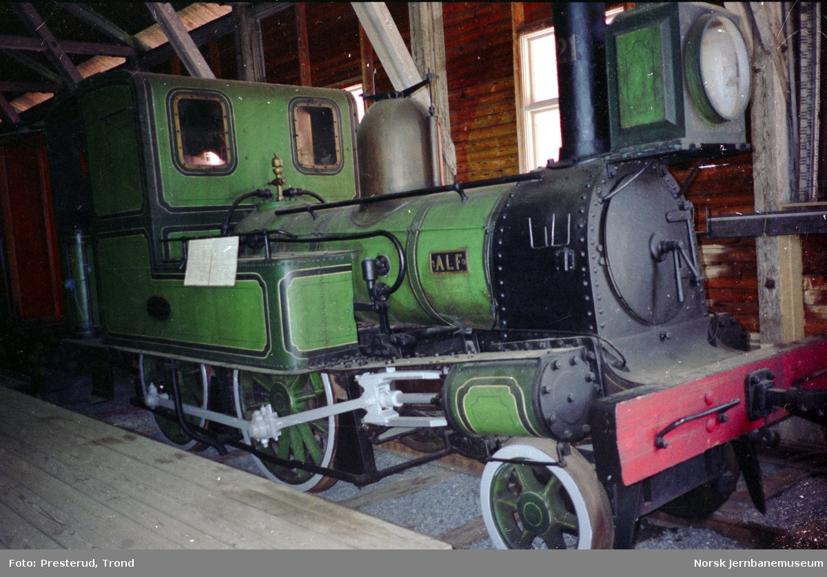 "Jernbanemuseet - damplokomotivet ""ALF"""