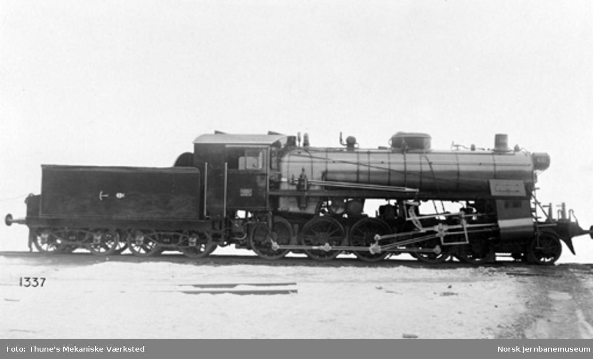 Leveransefoto av damplokomotiv type 26c nr. 434