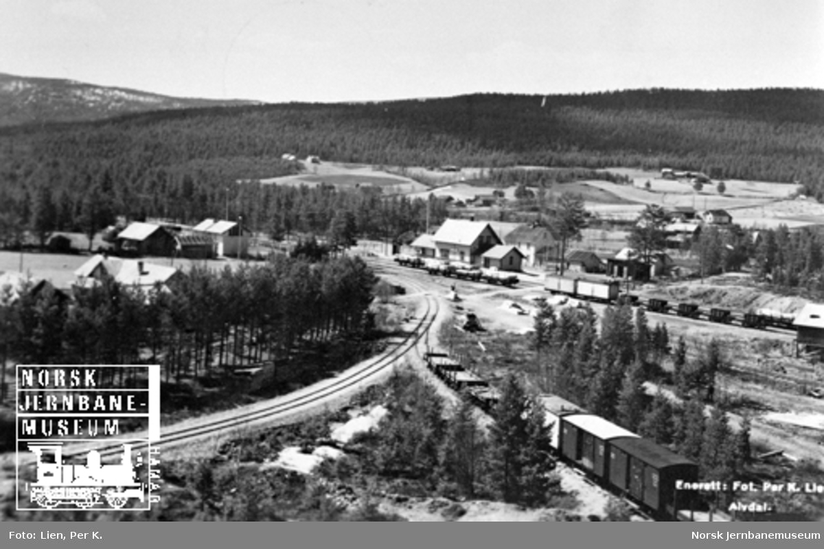 Oversiktsbilde over Auma stasjon