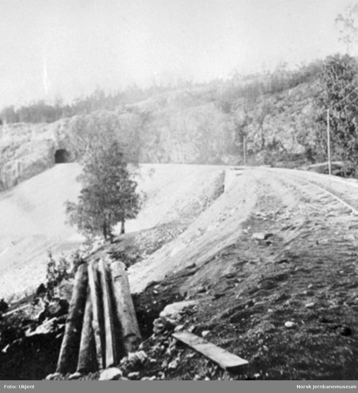 Linjen mot Tistedal tunnel
