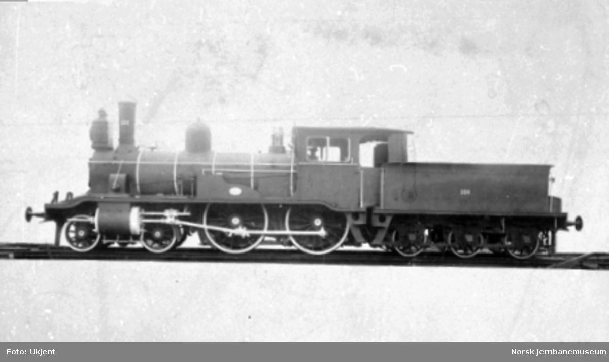 Leveransefoto av damplokomotiv type 16a nr. 108