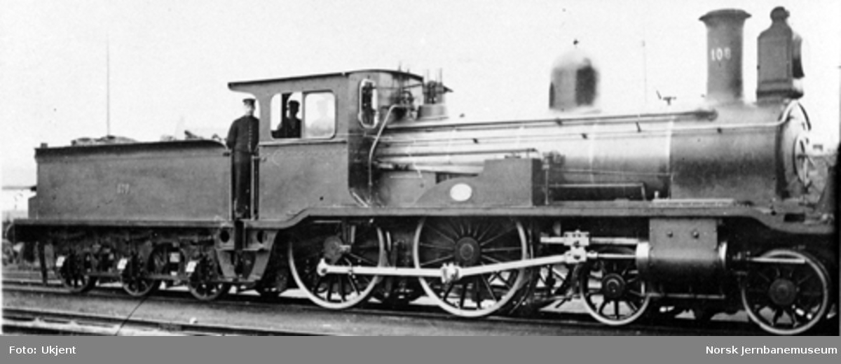 Damplokomotiv type 16a nr. 108