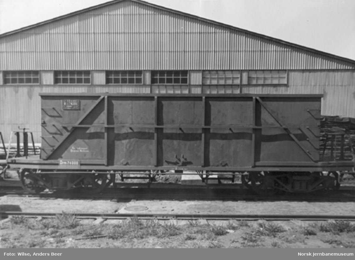 Bunntømmingsvogn for kulltransport Drammen-Vestfossen litra Øo4 nr. 74000