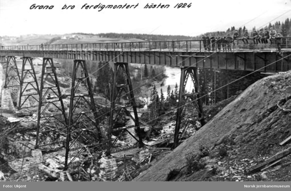 Grana bru : ferdigmontert bru høsten 1924