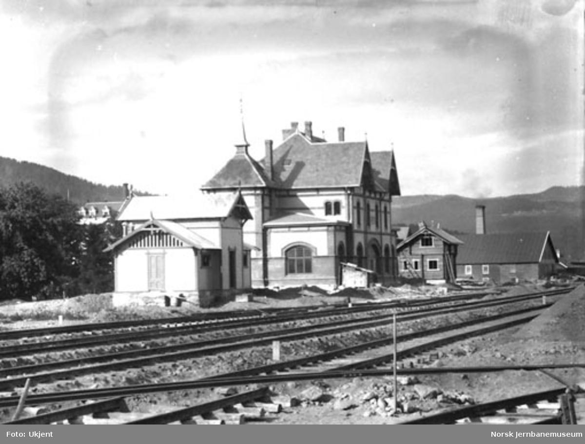 Gjøvik stasjon under bygging