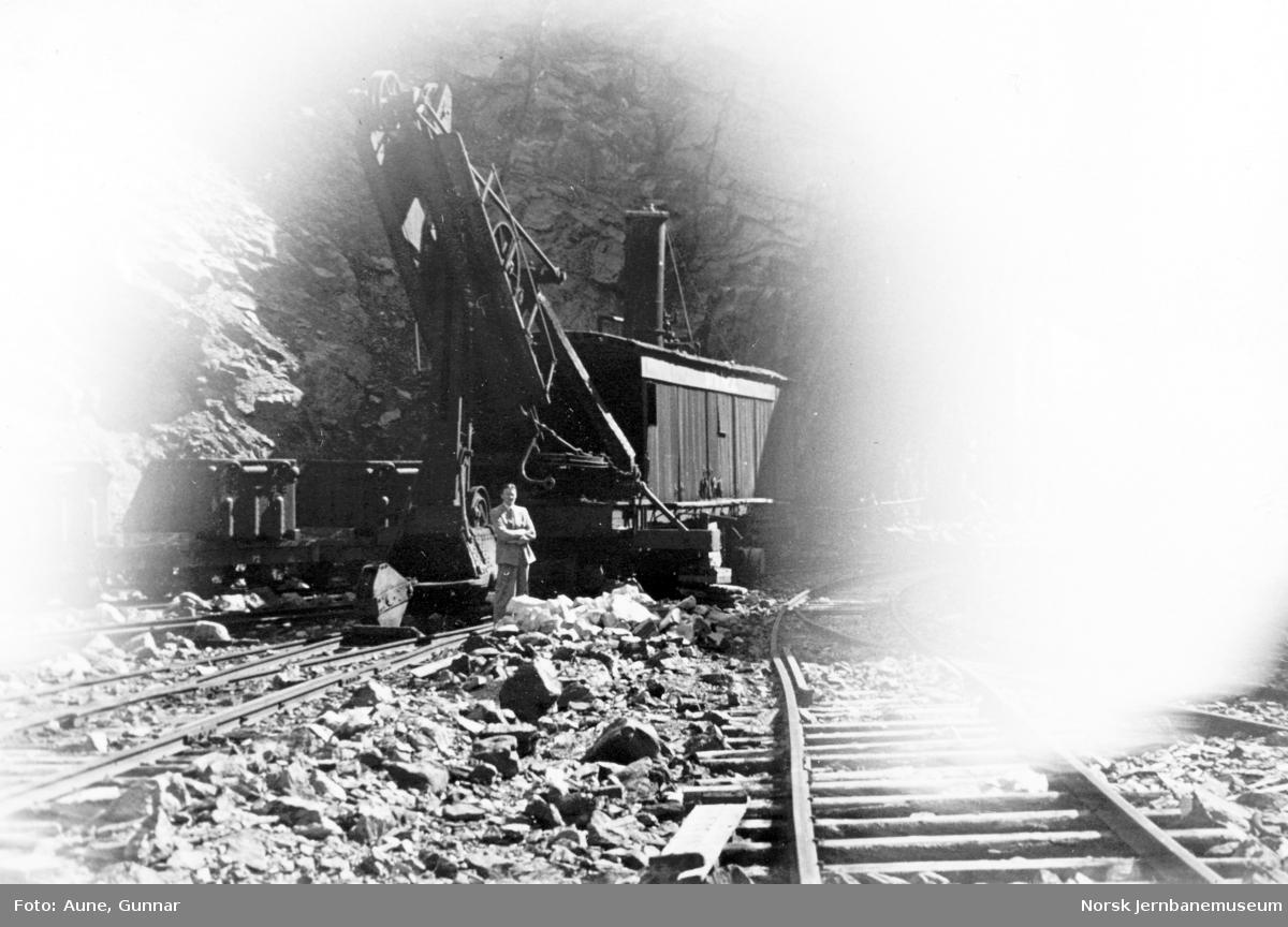 Dampskuffe på Dunderland Iron Ore Companys anlegg på Storforshei