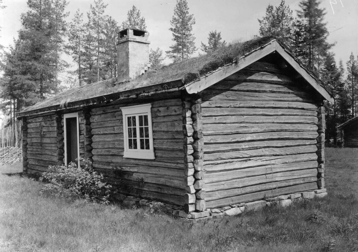 Oldertrøen, Tynset, Nord-Østerdal, Hedmark 1927. Sommerstue, lavt tømmerhus. Nå på Glomdalsmuseet.