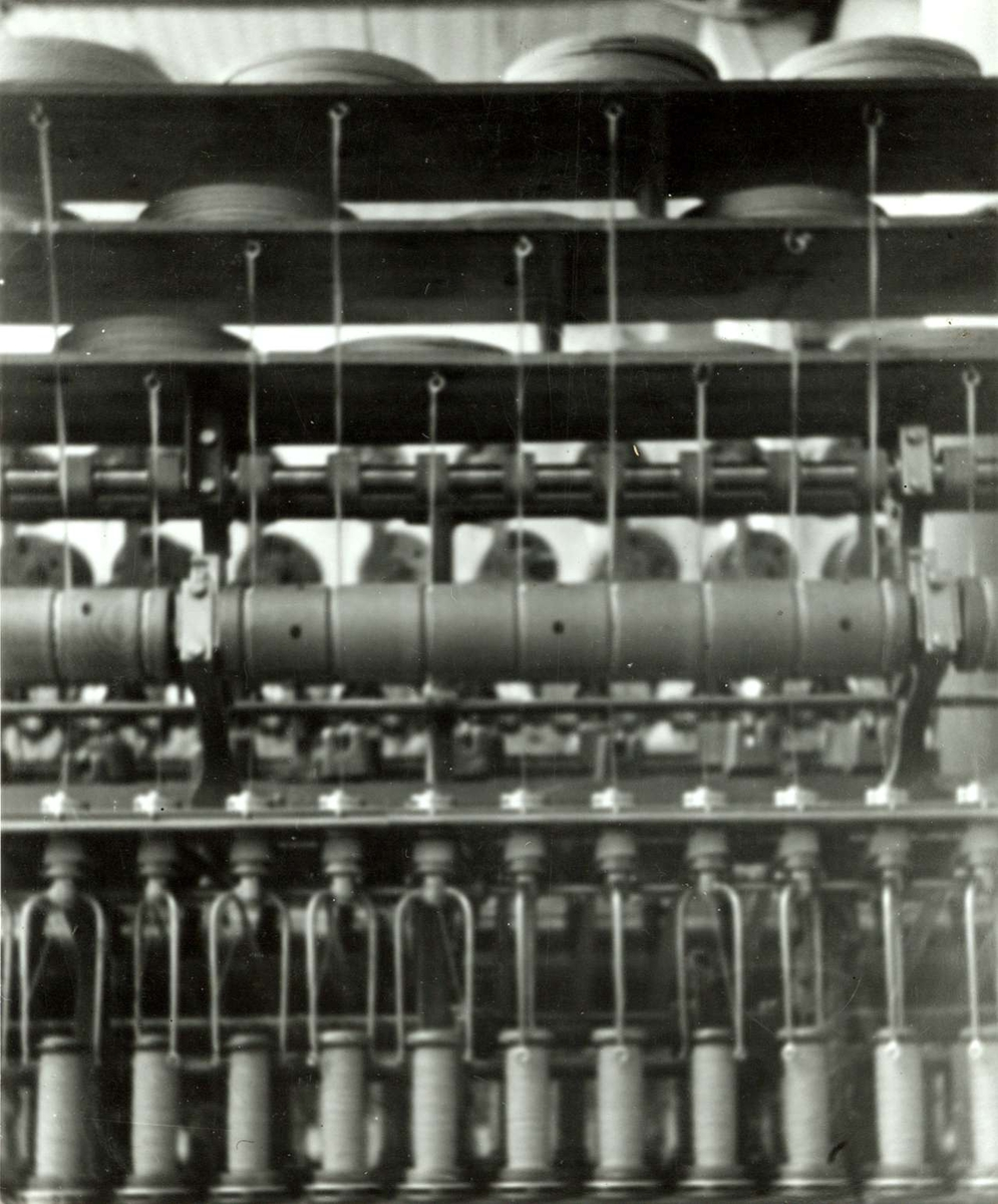 Fortex A/S. Christiania Seildugsfabrik. Industrimaskin, papirspinning.