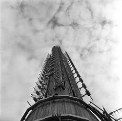 Tryvannshøgda, Oslo, 29.08.1962. Tryvannstårnet.