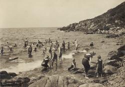 Havsbadorten Ransvik vid Mölle ca 1910.