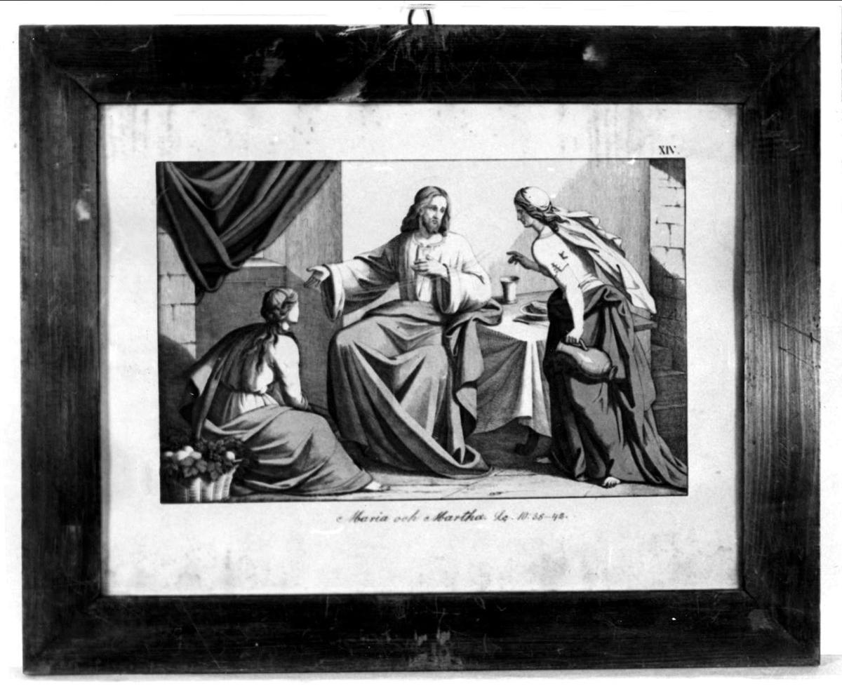 Jesus med Maria och Martha.