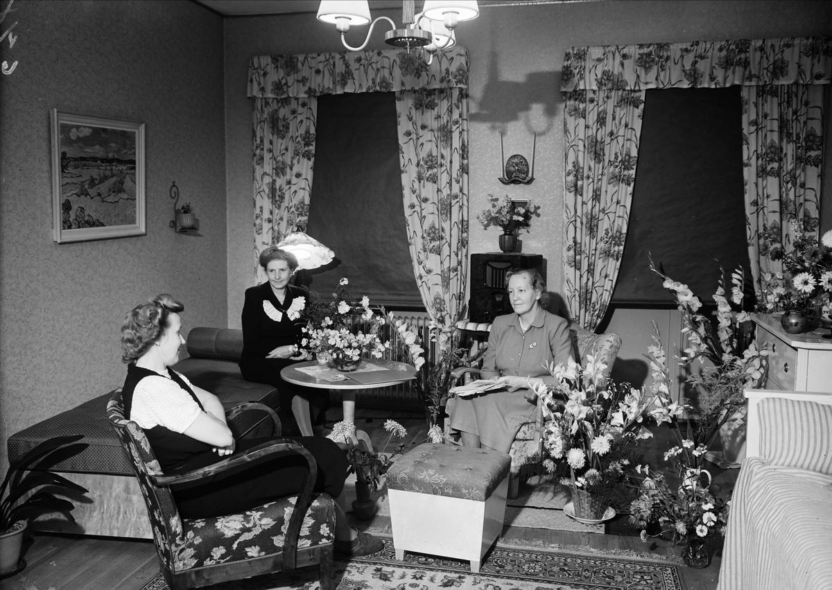 Födelsedagsporträtt - Hanna Lindström, Uppsala 50 år september 1948