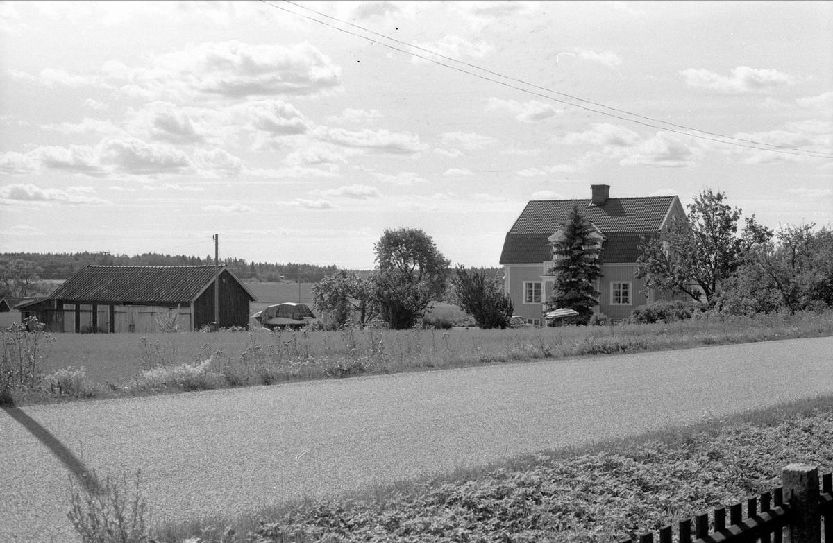 Vy över Skäggesta 12:1, Börje socken, Uppland 1983