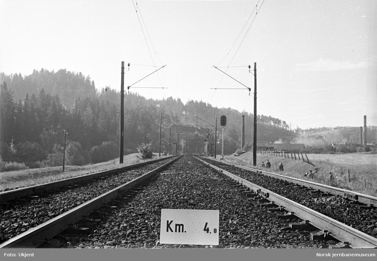 Hovedbanen : linjeføring km 4,8