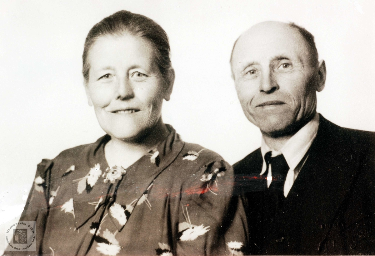 Ekteparet Rakel Brandsdl og  Ola Haaland fra Grindheim.