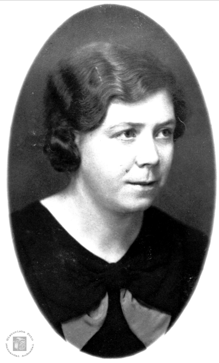 Portrett av Mari Trygsland, Bjelland.