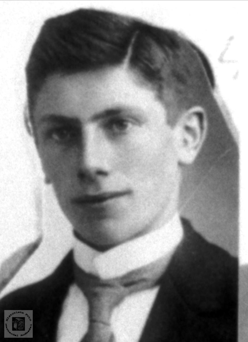 Portrett av Sigurd Olson Foss, Bjelland.