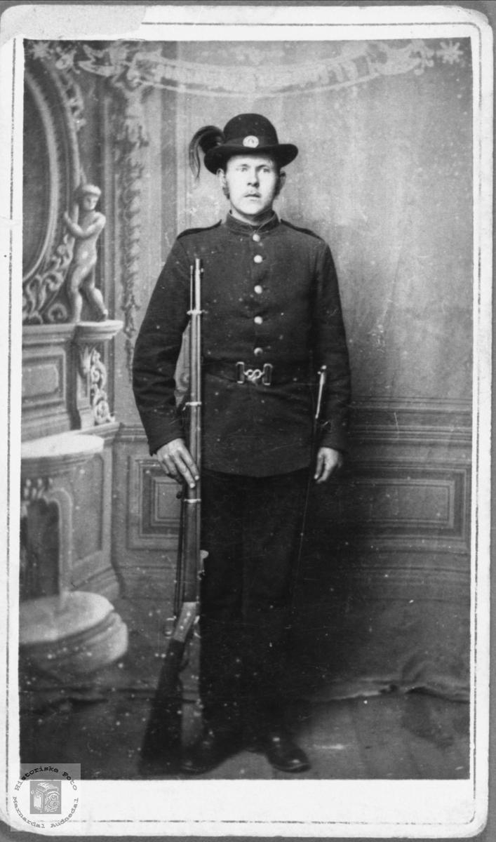 Portrett av ukjent soldat.