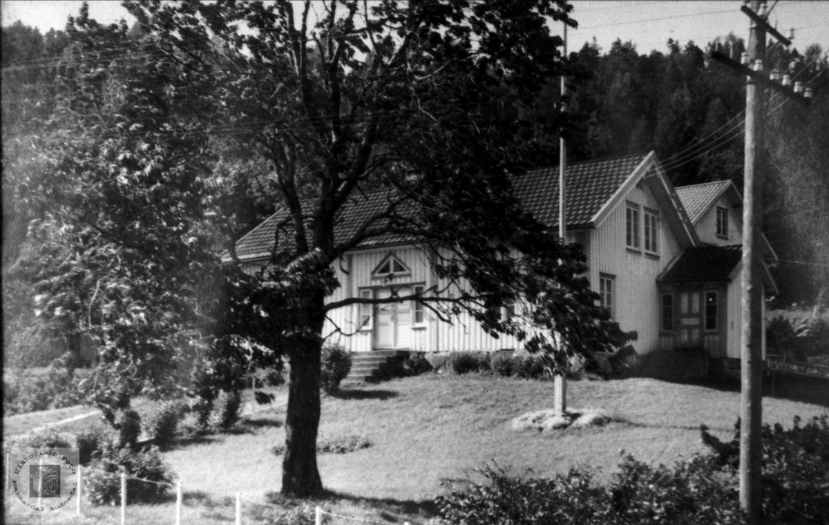 """Heimen """"Laubakken"""" Ågedal i tidligere Bjelland kommune, senere Audnedal"""
