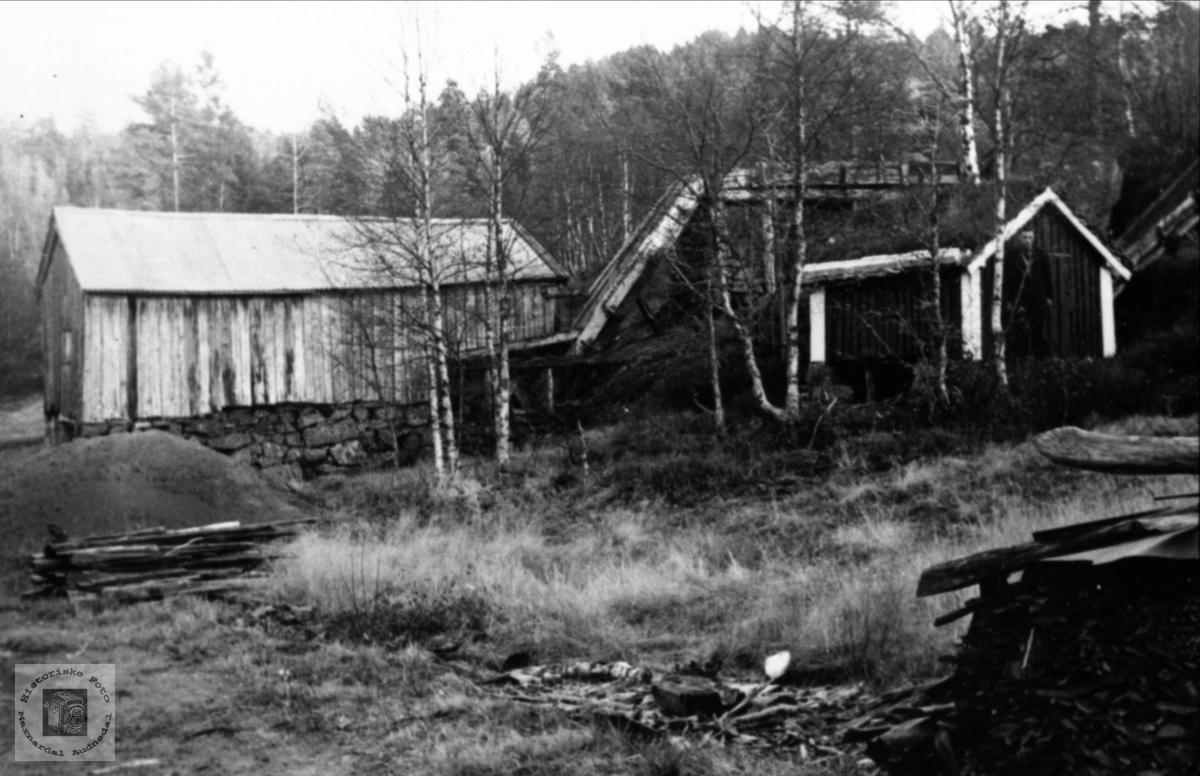 Saga og kvernhuset på Birkeland, Laudal.