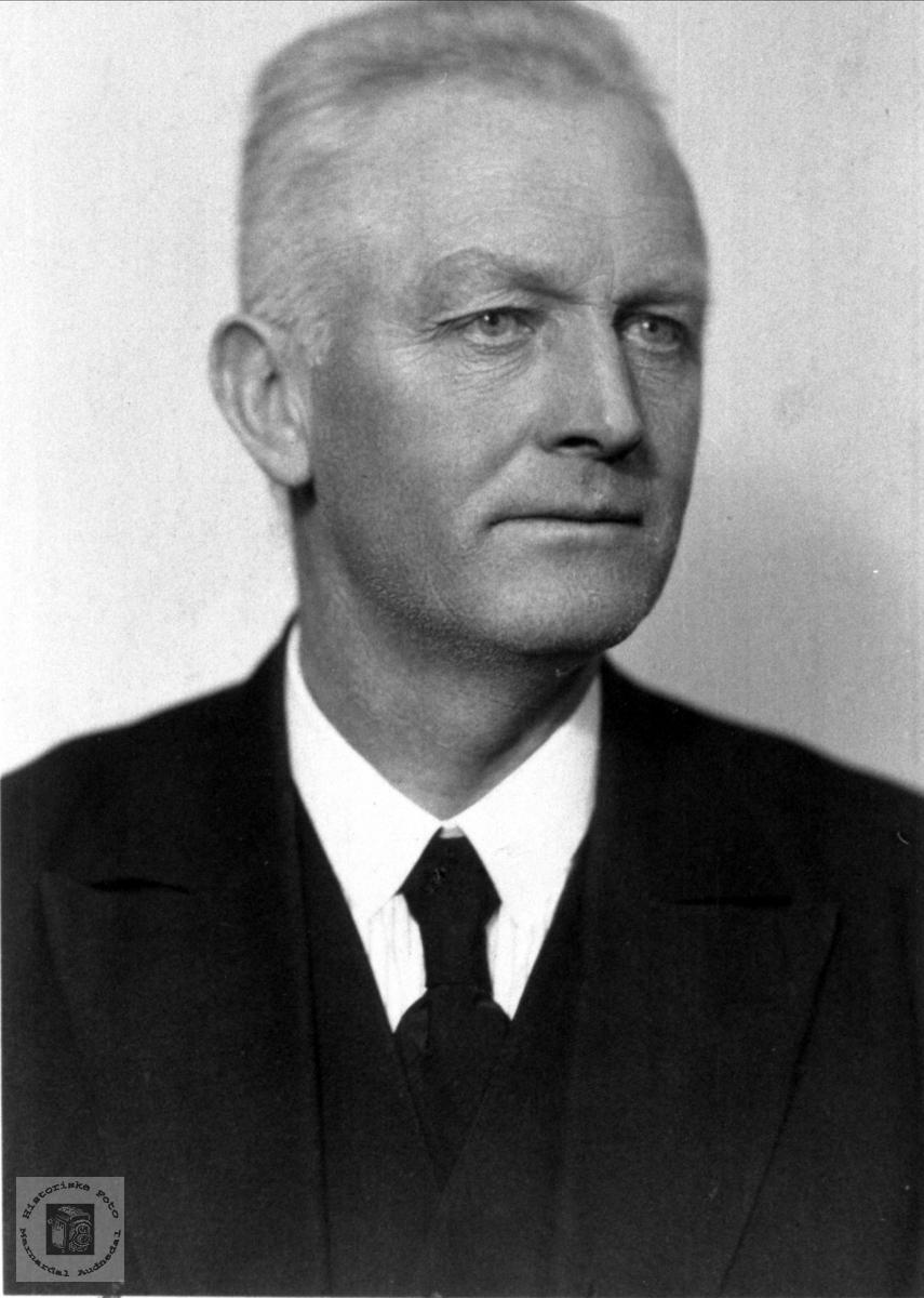 Portrett av Håkon Olson Skjævesland, Øyslebø.