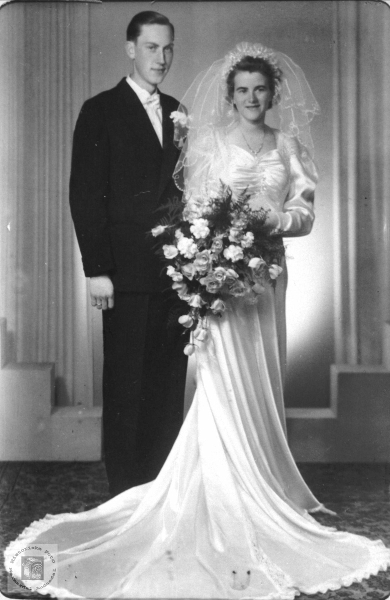 Brudeparet Lars og Gerd Margit Vatne.