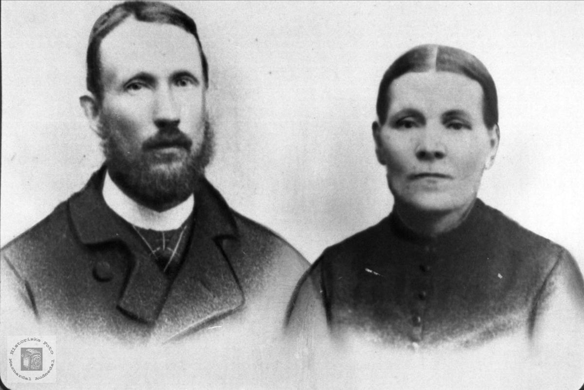 Ekteparet Anders og Marie Sigvaldsen, Øyslebø.
