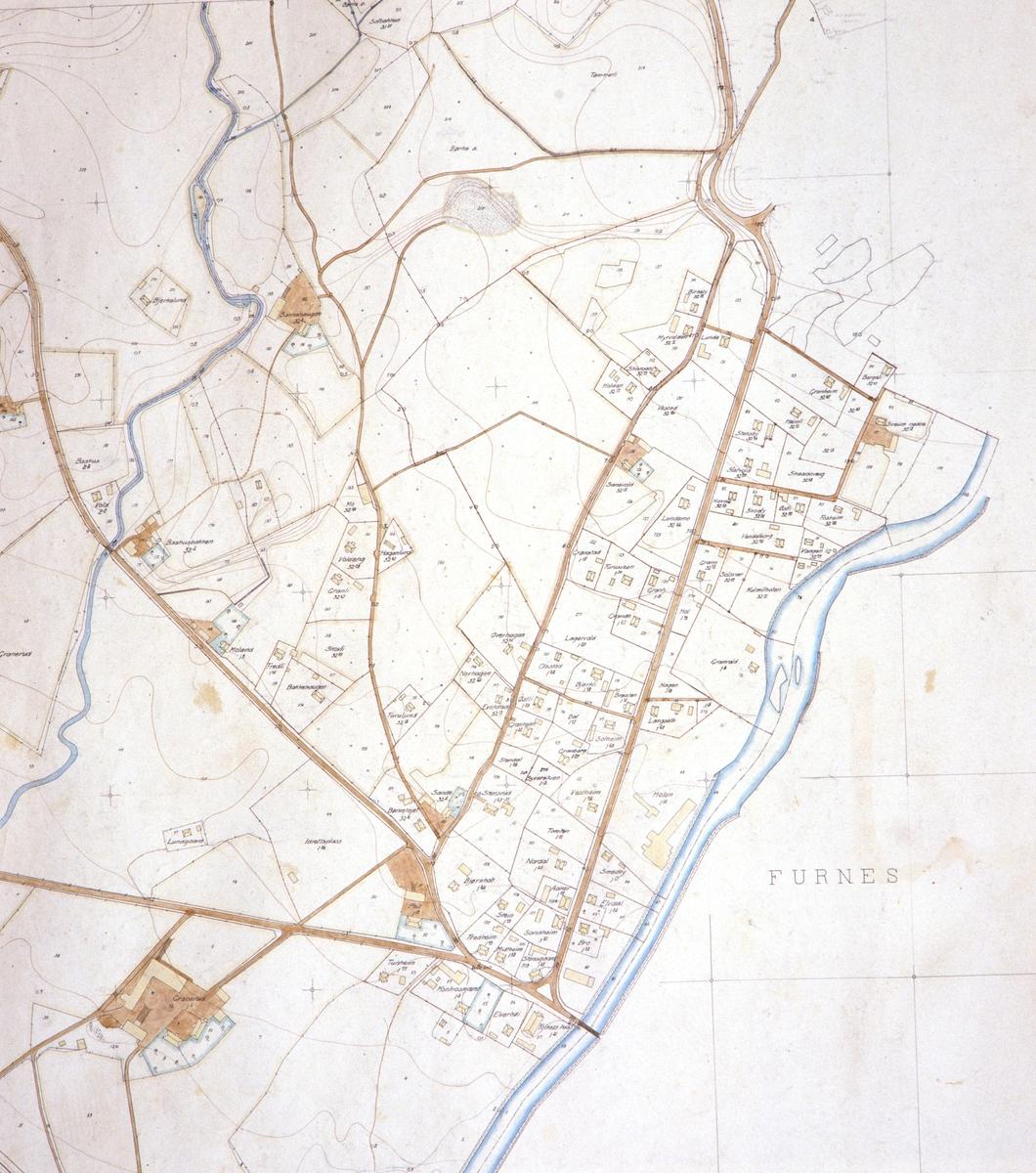 kart brumunddal Kart, Brumunddal med navn på eiendommer på Veldresiden.